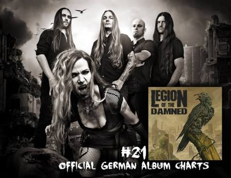 Legion Of The Damned - #21 - German Charts - promo pic - 2014
