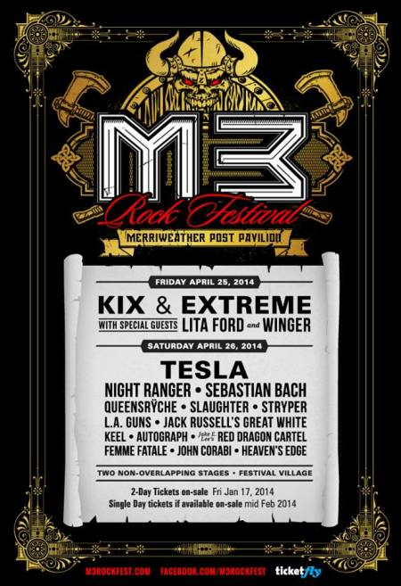 M3 Rock Festival V - 2014 - promo flyer