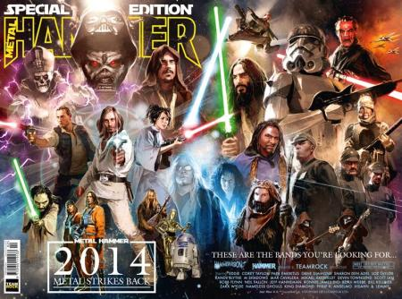 Metal Hammer - Star Wars Metal Strikes Back cover - 2014