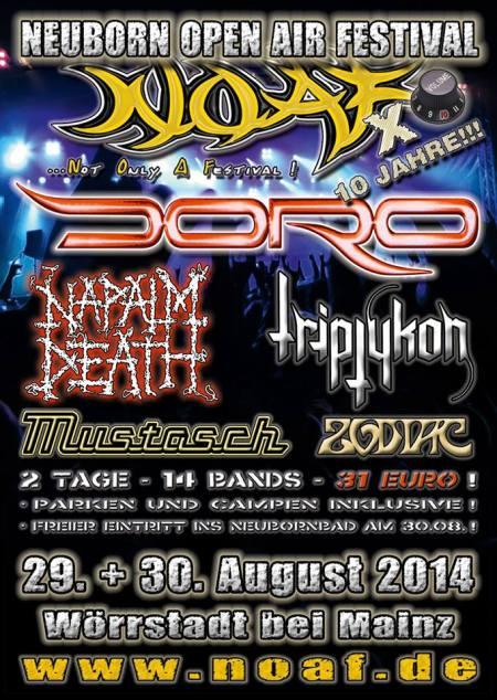 Neuborn Open Air Festival - Doro - Triptykon - 2014 - promo flyer