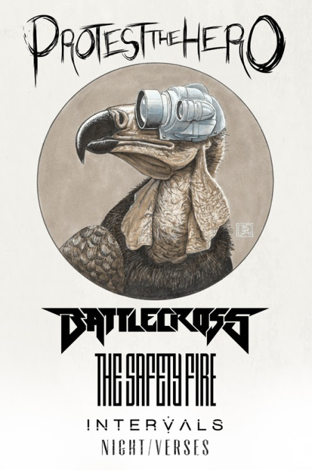 Protest The Hero - Battlecross - tour flyer - 2014 - #7780