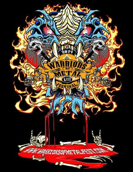 Warriors Of Metal Festival VII - promo flyer - 2014