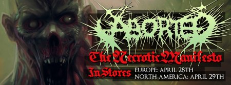 Aborted - The Necrotic Manifesto - promo album banner - 2014 - #4433