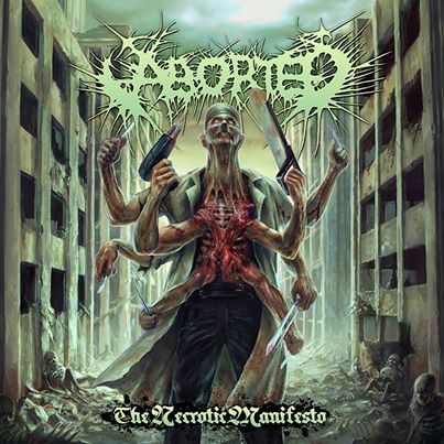 Aborted - The Necrotic Manifesto - promo cover pic - 2014