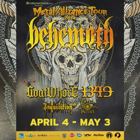 Behemoth - Metal Alliance Tour - promo flyer - 2014 - #4466
