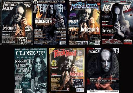 Behemoth - Nergal - metal magazine covers - 2014 - collage promo - #22997