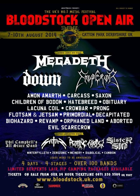 Bloodstock Open Air Festival - 2014 - promo flyer - #7107