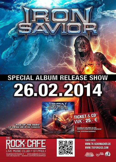 Iron Savior - Album Release Show - promo flyer - 2014 - Hamburg