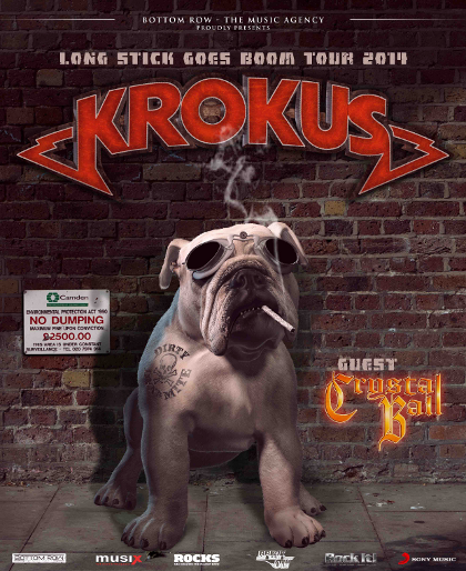 Krokus - Crystal Ball - Long Stick Goes Boom - German Tour Flyer Promo - 2014