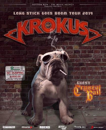 Krokus - Crystal Ball - Long Stick Goes Boom - German Tour Flyer Promo - 2014