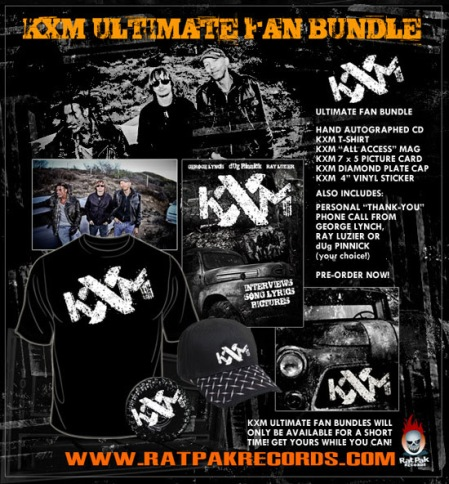 KXM - fan bundles - promo flyer - debut album - 2014