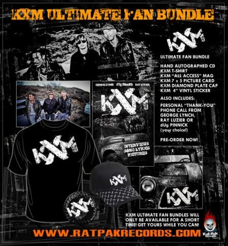 KXM - fan bundles - promo flyer - debut album - 2014