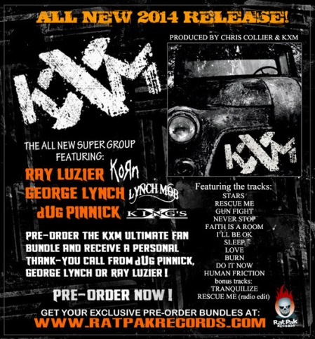 KXM - Large debut album promo flyer - order info - 2014