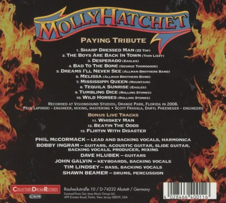 Molly Hatchet - Paying Tribute - back cover - promo pic