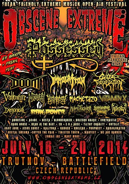 Obscene Extreme Festival - promo flyer - 2014