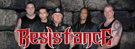 Resistance - promo band pic - logo banner - 2014