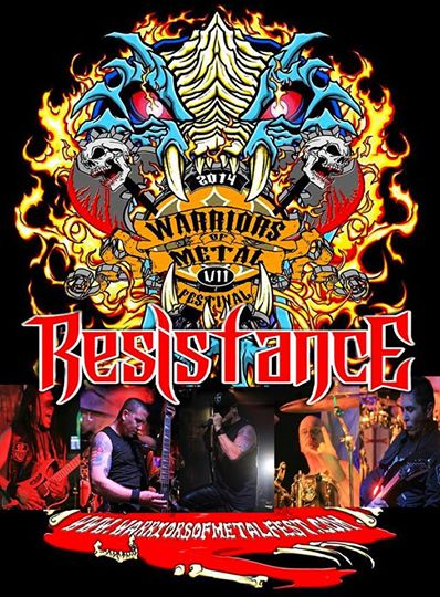 Resistance - Warriors of Metal Fest - promo flyer - 2014