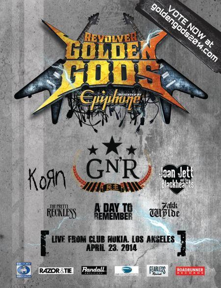 Revolver Golden Gods Awards Show - 2014 - promo flyer - #67690