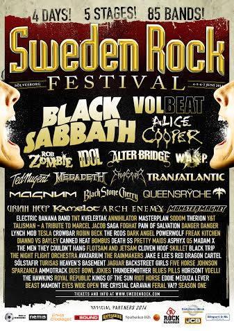 Sweden Rock Festival - promo flyer - 2014 - #4094