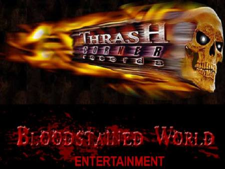 Thrash Corner Records - Bloodstained World Entertainment - promo logos - 2014