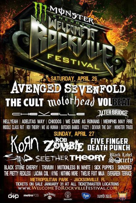 Welcome To Rockville - festival flyer promo - 2014 - korn - a7x - ffdp