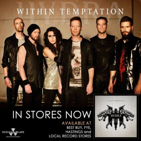 Within Temptation - Hydra - promo band and album flyer - in stores now - 2014