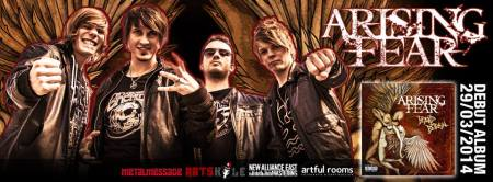 Arising Fear - Beyond Betrayal - promo band - album banner - 2014 - #402