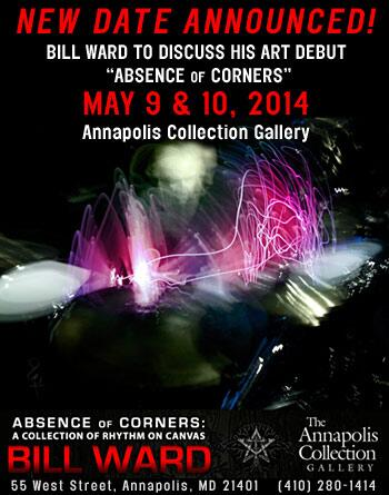 Bill Ward - Absence of Corners - promo art gallery flyer - May - 2014