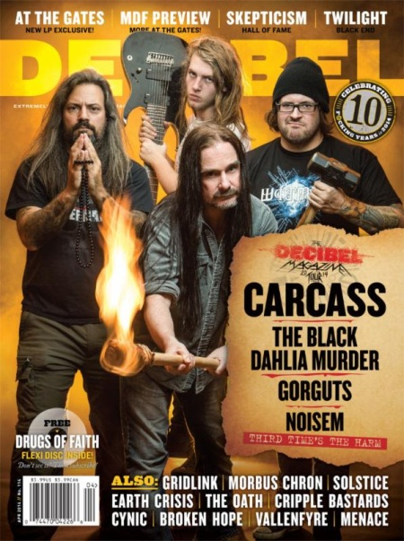 Decibel Magazine - Carcass - Gorguts - Noisem - 2014 - #2998