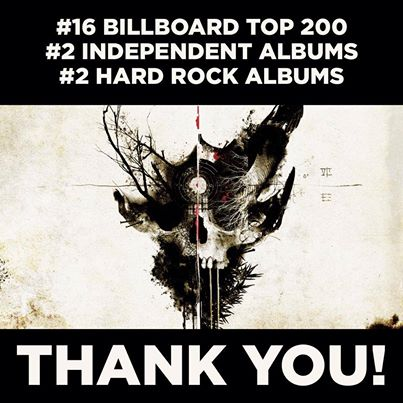 Demon Hunter - Extremist - Billboard Charting - promo flyer - 2014