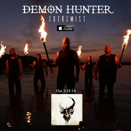 Demon Hunter - Extremist - promo band - album flyer - itunes - 2014