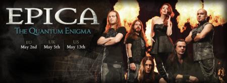 Epica - promo banner - The Quantum Enigma - band - promo - 2014