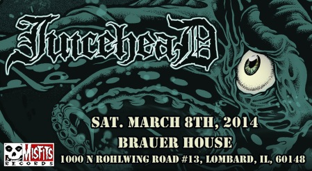 Juicehead - promo gig flyer - Illinois - March 8 - 2014