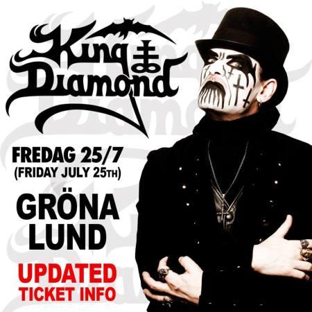 King Diamond - Gröna Lund - Sweden - concert flyer - july - 2014