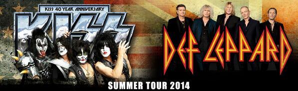 Kiss - Def Leppard - 2014 Summer Tour - promo banner - 33303