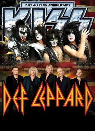 Kiss - Def Leppard - tour - 2014 - promo flyer - #62800