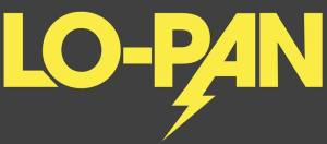 Lo-Pan - band logo - yellow - gray - 2013