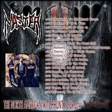 Master - 2014 North American Witchhunt Tour - promo flyer - #5480