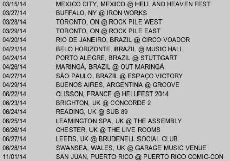 Misfits - World Tour - Dates - 2014 - #77201
