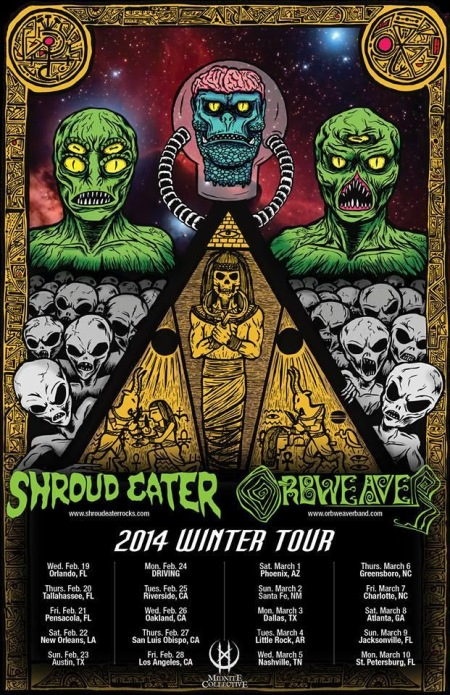 Orbweaver - 2014 Winter Tour - promo flyer - 3290