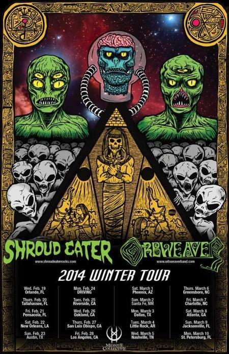 Orbweaver - 2014 Winter Tour - promo flyer - 3290
