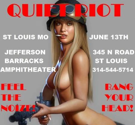Quiet Riot - St. Louis Mo - June 13 - 2014 - promo flyer