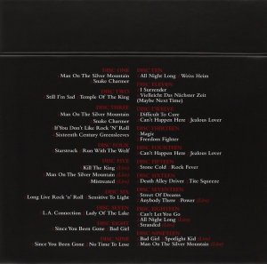 Rainbow - Singles Box - back cover - 2014