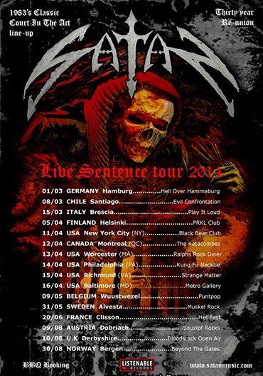 Satan - Live Sentence Tour 2014 - promo flyer - #1001