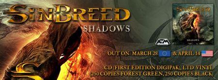 Sinbreed - Shadows - promo album banner - 2014 - #5056