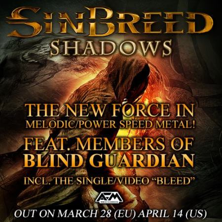 Sinbreed - Shadows - promo album flyer - 2014 - #4990