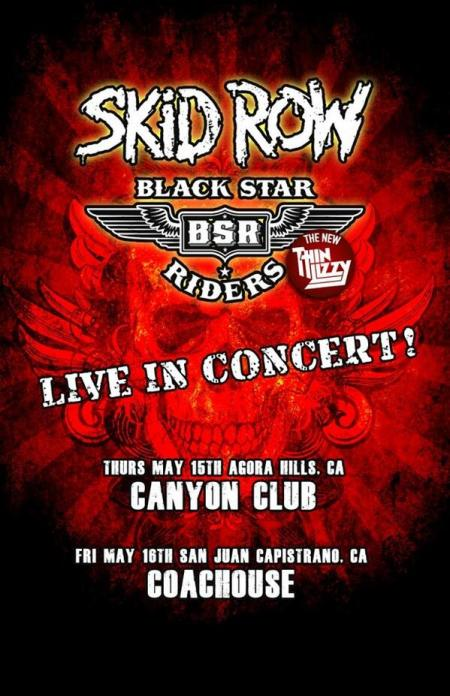 Skid Row - Black Star Riders - promo concert flyer - 2014 - California - #1007