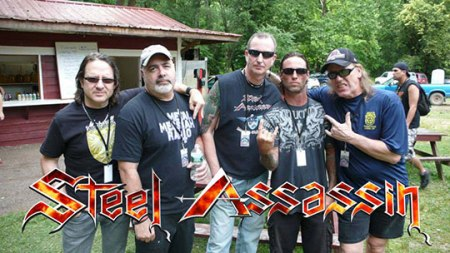 Steel Assassin - promo band pic - band logo - 2014 - #4006