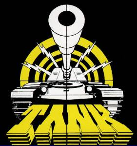 Tank - classic band logo - large - yellow - black - white