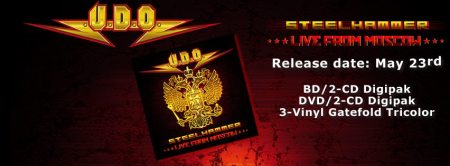 U.D.O. Steelhammer Live From Moscow - promo album banner pic - 2014